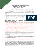 Registration Form Guidelines