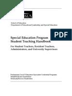Sped Student-Teacher Handbooks