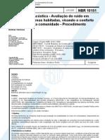 NBR 01015 - Acustica - Avaliacao Do Ruido Em Areas Hab - Procedimento