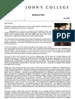 Newsletter 3 Trinity Term 2011
