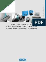 Sick - Laser Scanner LMS 200 - Datasheet E