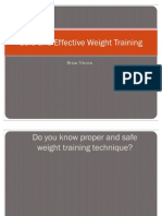 Safe and Effective Weight Training