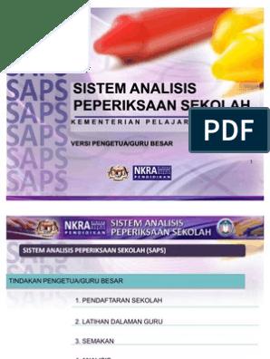 Manual Pgb Saps Sistem Analisa Peperiksaan Sekolah
