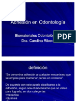 Adhesión en Odontología