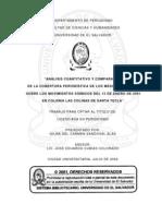 Análisis cuantitativo y comparativo de la cobertura periodística de los medios impresos sobre los movimientos sísmicos del 13 de enero de 2001 en colonia Las Colinas de Santa Tecla