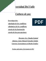 Investigacion Cultura de Paz