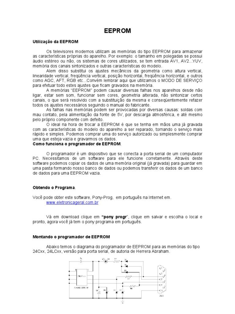 EM BAIXAR PONYPROG2000 PORTUGUES