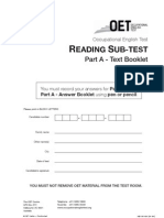 Oet Part A – text booklet