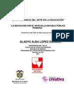 LA IMPORTANCIA DEL ARTE EN LA EDUCACION.pdf Gladys López Donado
