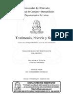 Testimonio, historia y ficción. Lectura crítica de Miguel Mármol. Los sucesos de 1932 en El Salvador