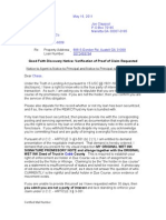 Demand for Disclosure of Standing May 11 2011