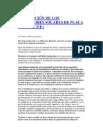 DESCRIPCIÓN DE LOS COLECTORES SOLARES DE PLACA PLANA