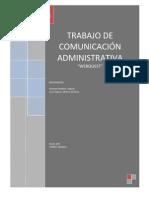 TRABAJO DE COMUNICACIÓN ADMINISTRATIVA