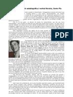Josep Pla, ficció autobiogràfica i veritat literària, Xavier Pla