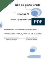 6to Grado - Bloque 5 - Proyecto 1