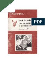 Andrei Groza - Din istoria necunoscută a românilor - 2001