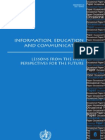 Information Education Communication Lessons From Past