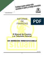 Informe de la Secretaría de Finanzas