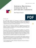 GOBIERNO ELECTRONICO EVALUACION DE LA PERCEPCION (Elvira Fragoso Vázquez)