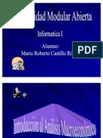 INTRODUCCIÓN AL ANÁLISIS MACROECONÓMICO