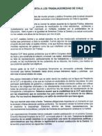Carta Abierta a Trabajadores