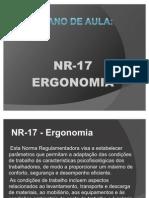 PLANO de AULA NR 17 Ergonomia - Maria Genilza