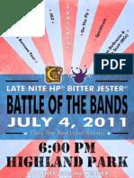 LNHP/Bitter Jester 4th of July Battle Poster