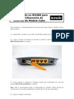 W268R - Configuração para Compartilhamento de Internet de Modem-Cabo[1]