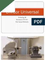 Divisor Universal