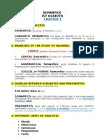 Semantics Unit 1 Resumen Final