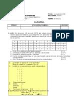 Estadisitica y funciones Examen Final B FM 2008