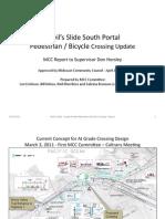 Devil's Slide South Portal Pedestrian/Bicycle Crossing Report 4-11-2011