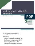 Implementando a Nutriçao Parenteral
