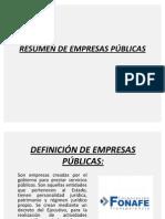 RESUMEN DE EMPRESAS PÚBLICAS