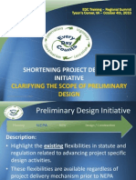 Clarifying the Scope of Preliminary Design Presentation