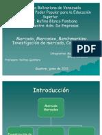 Mercado, Mercadeo, Benchmarking....