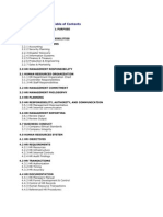 HR Managers Manual Table of Contents