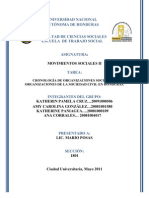CRONOLOGIA DE ORGANIZACION Y MAS EN HONDURAS