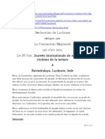Lucknow Déclaration French version