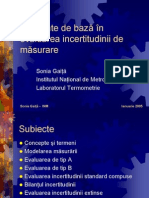 Evaluarea Incertitudinii de Masurare. Note de Curs