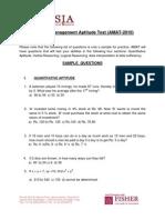AMAT Sample Test