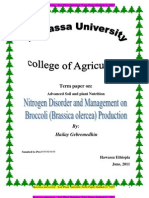 Soil and Plant Nutrition Term Paper