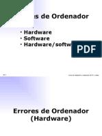 Errores de Ordenador