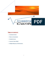 Investment Center & Transfer Pricing