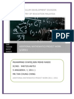 59167147 Additional Mathematics Project Work 1