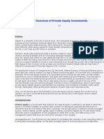 An Overview of Private Equity Investments