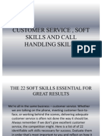 Customer Service , Soft Skills and Call Handling