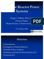 Nuclear Reactor Power Systems 10 05