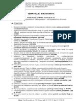 Tematica Si Bibliografia Pentru Loctiitor Comandant Detasament