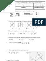 FA de Mat 5º-racionais,rectas,ângulos,triângulos e volumes
